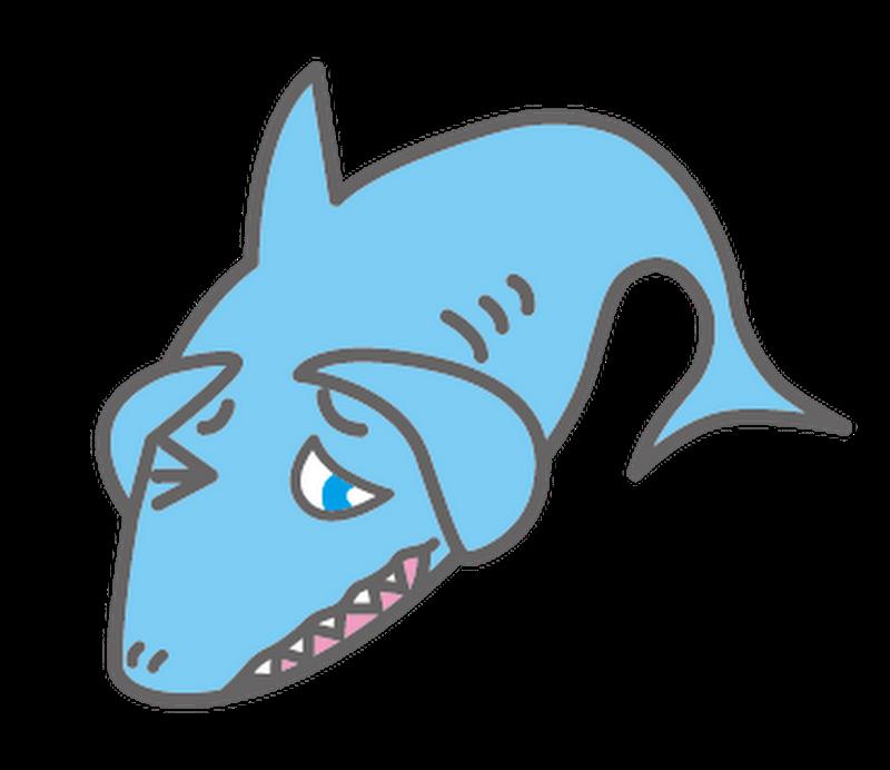 あたまかかえるサメ
